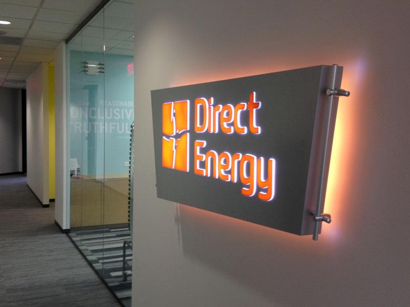 Internally Illuminated Lobby Sign