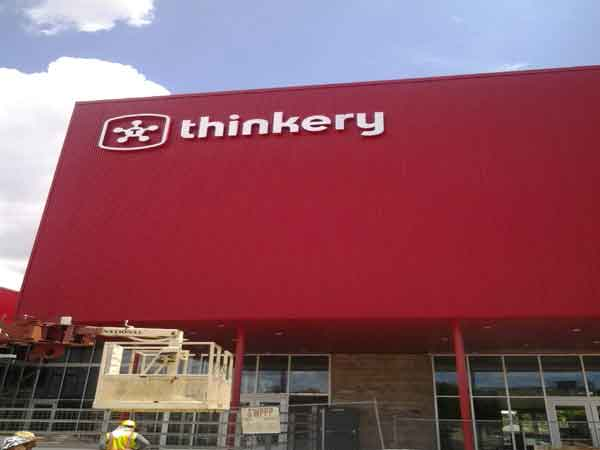 The Thinkery Reverse Channel Letter Sign