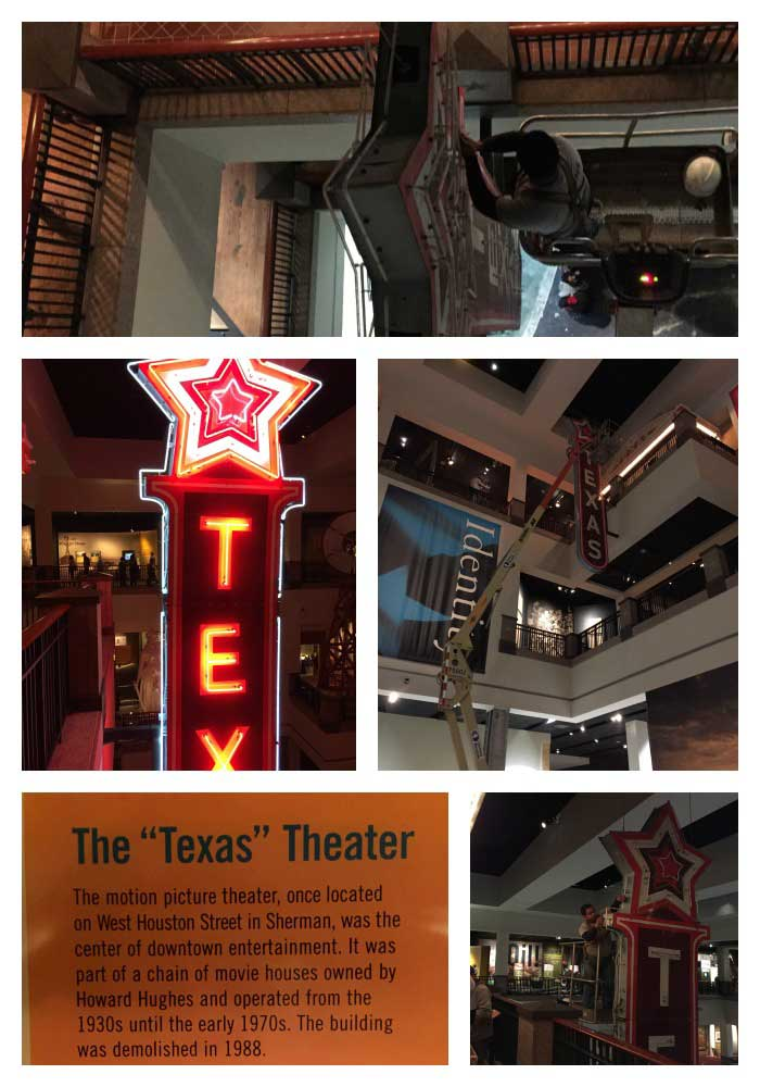 CND Signs Moves the Texas Theatre Sign to the Bob Bullock Texas State Museum in Austin