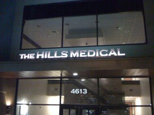 The hills medical sign