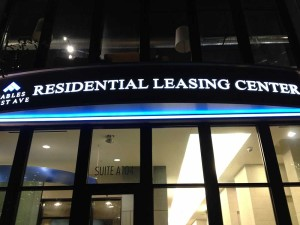 Residential leasing center sign