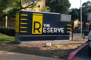 The reserve sign